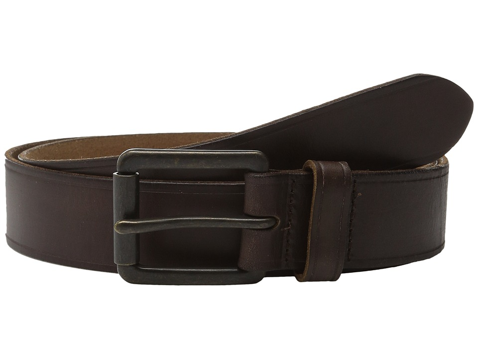 Johnston & Murphy - Burnished Roller Buckle (Brown) Mens Belts