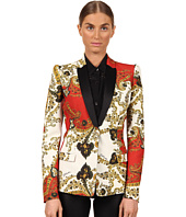 Just Cavalli - S04BN0034N36363 Paisley Crown Printed Blazer