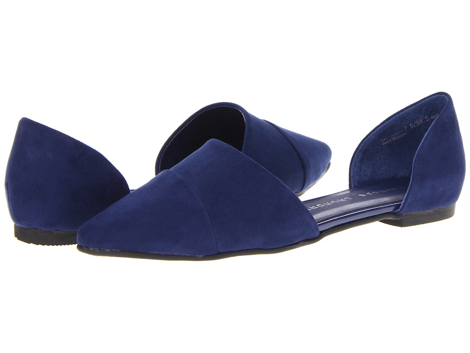 Chinese Laundry - Easy Does It Flat (Bright Navy Suede) Womens Slip on  Shoes
