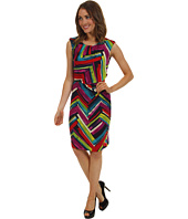 Ellen Tracy - Side Drape Jersey Print Dress