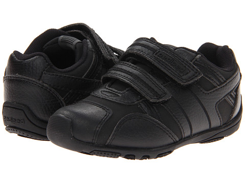 pediped Haze Flex (Toddler/Little Kid) - Black Leather/Synthetic