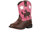 Roper Kids Western Lights Cowboy Boots (Toddler) (Brown/Pink)