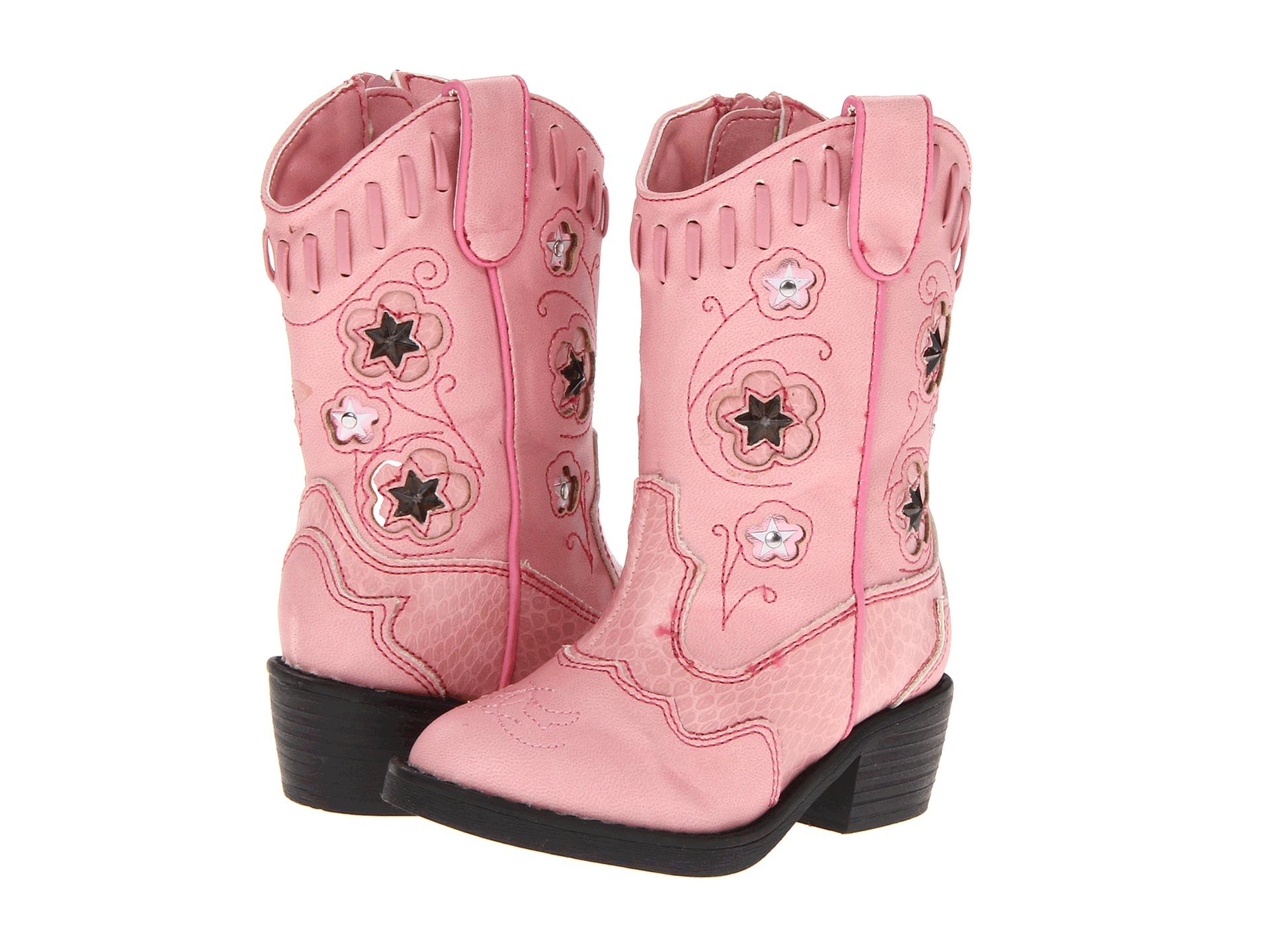 roper western lights cowboy boots toddler pink pink