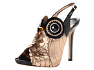 Kate Spade New York - Night Owl (Black Patent/Rose Gold Metallic Nappa) - Footwear