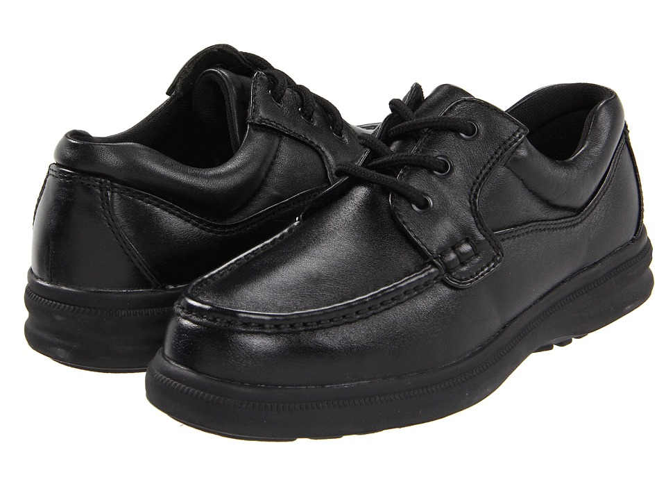 Hush Puppies - Gus (Black Leather) Men