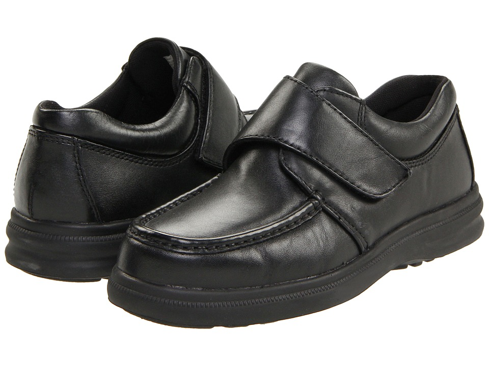 Hush Puppies - Gil (Black Leather) Mens Hook and Loop Shoes