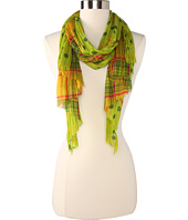 Betsey Johnson - Pleated Checker Dots Scarf