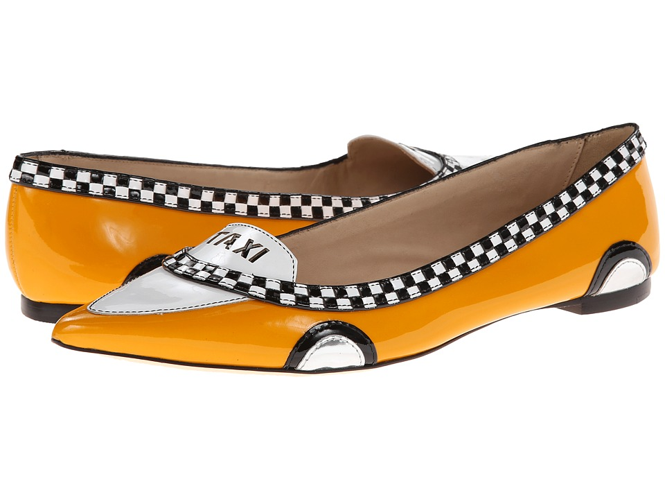 Kate Spade New York Go (Taxi Yellow Patent/Black/White Patent) Flats