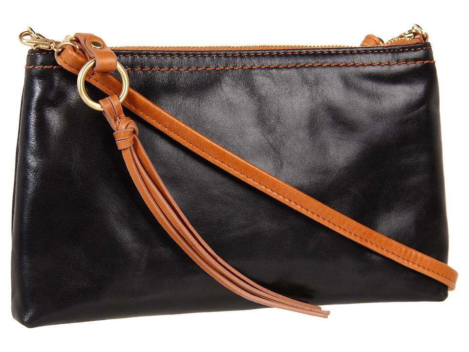 Hobo - Darcy (Black Vintage Leather) Cross Body Handbags