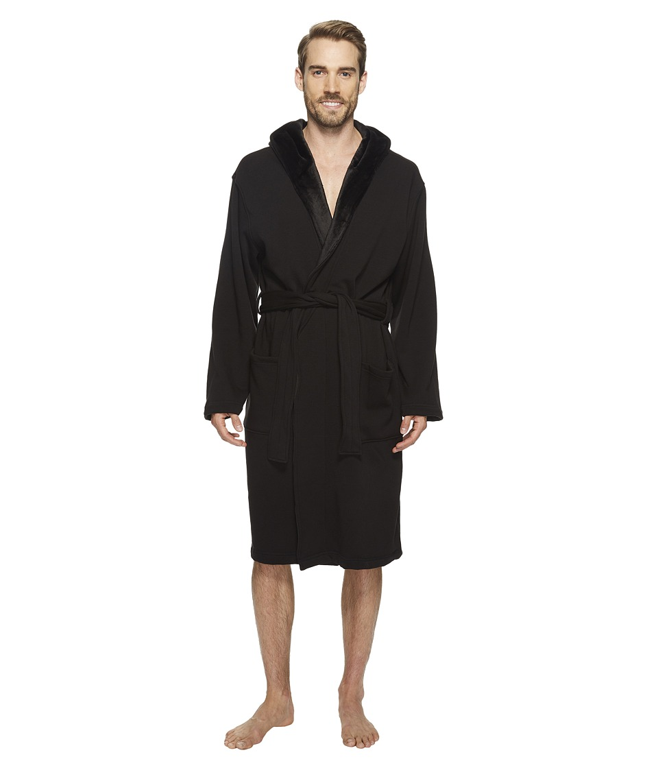 Ugg Brunswick Robe (Black) Men's Robe