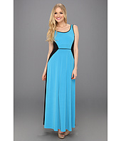 London Times - 2 Tone Sleevless Maxi Dress