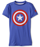 Under Armour Kids - Boys' Alter Ego Marvel® Comics Captain America S/S Base Layer (Little Kids/Big Kids)
