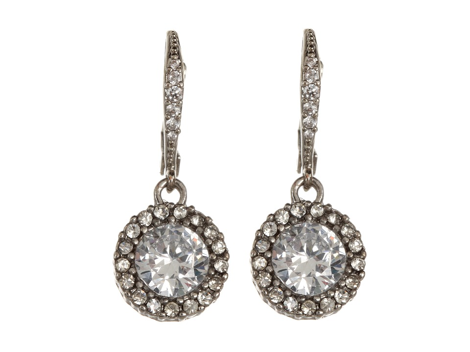 Betsey Johnson - CZ Drop Earrings (Crystal) Earring