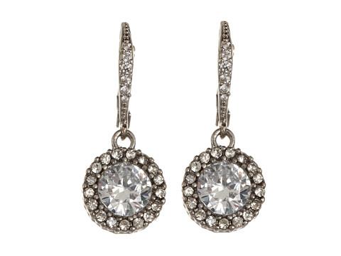 Betsey Johnson CZ Drop Earrings - Crystal