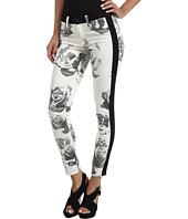Hudson - Leeloo Super Skinny Crop in Black/White Floral
