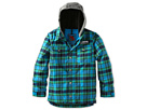 Burton Kids - Boys Uproar Jacket (Little Kids/Big Kids) (Blue Ray Switch Plaid) - Apparel