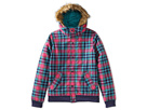 Burton Kids - Girls Whisper Jacket (Little Kids/Big Kids) (Hotstreak Tartlet Plaid) - Apparel