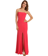 ABS Allen Schwartz - Long Strapless Gown w/Front Slit