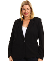 MICHAEL Michael Kors Plus - Plus Size Structured Knit L/S Blazer