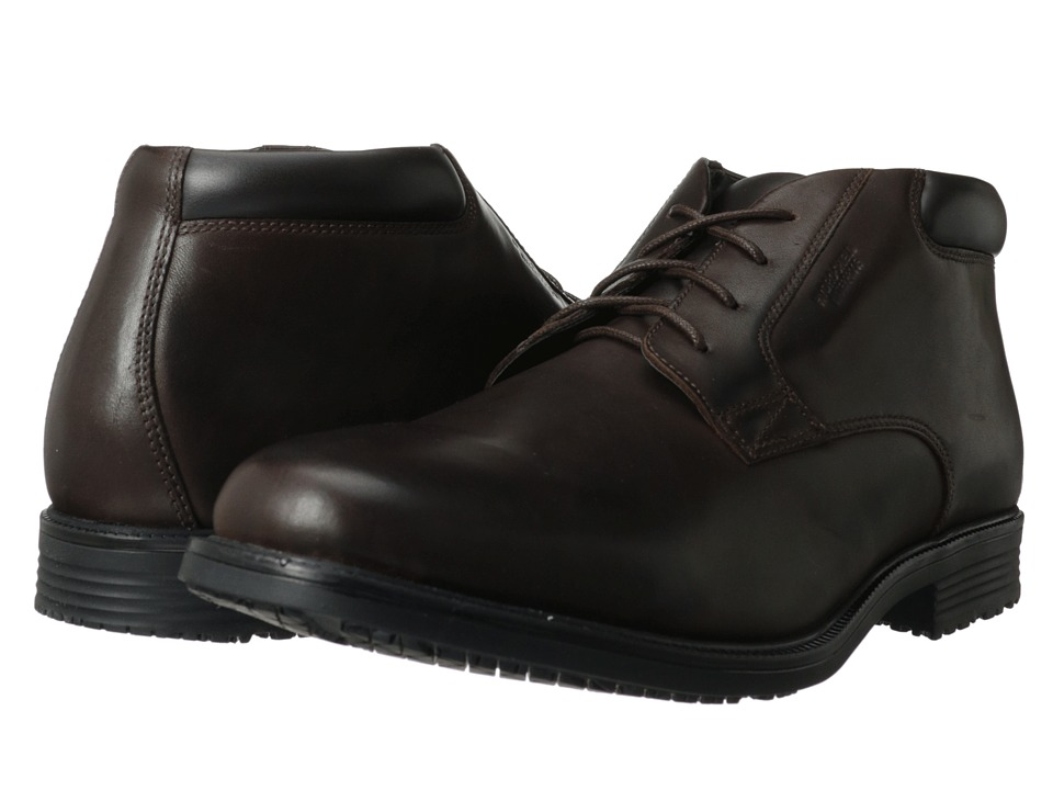 Rockport Essential Details Waterproof Dress Chukka (Dark Brown) Men