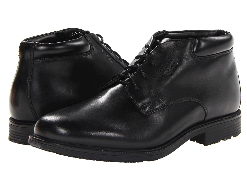 Rockport - Essential Details Waterproof Dress Chukka (Black) Mens Lace-up Boots