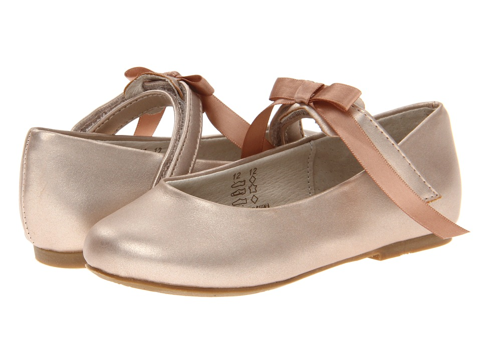 Pazitos Classic Ballerina MJ PU Toddler/Little Kid Champagne Girls Shoes