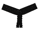 Signature Lace Low Rise Crotchless Thong