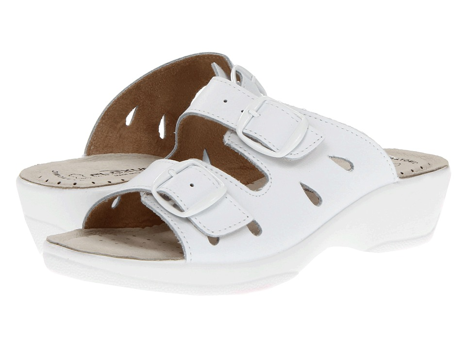 Spring Step - Decca (White Leather) Women's Sandals