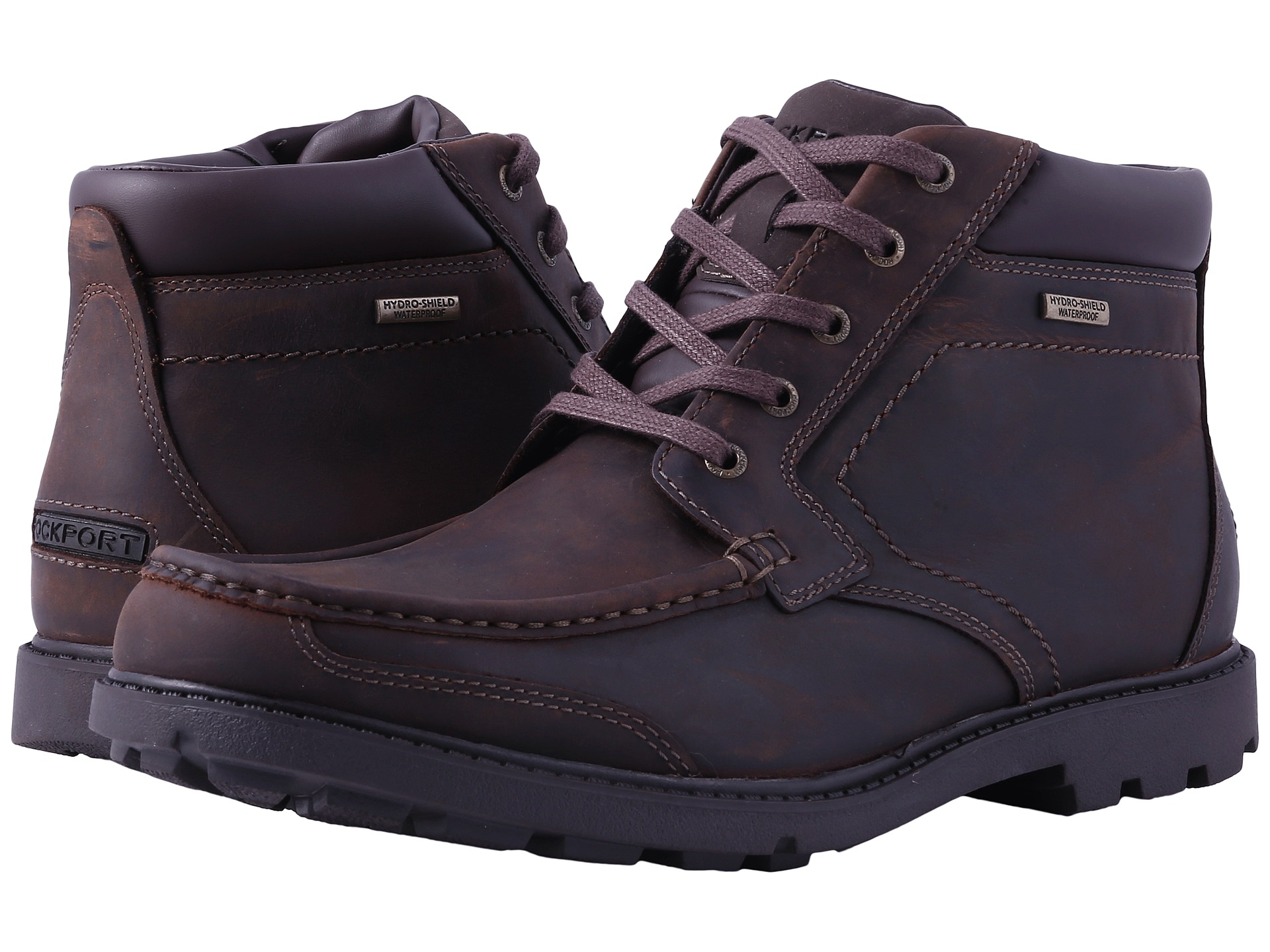 Rockport rugged bucks moc boot waterproof dark tan zappos com free