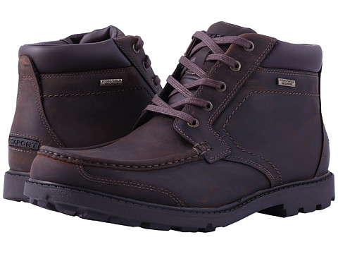 Rockport Rugged Bucks Moc Boot Waterproof - Dark Tan