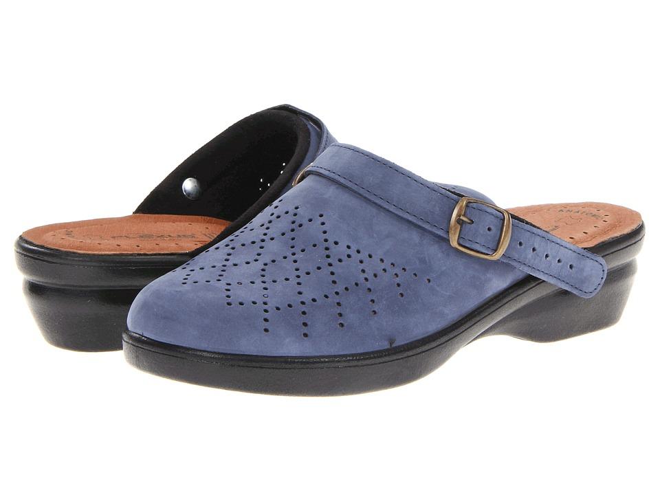 Flexus Pride Navy Nubuck Womens Clog Shoes