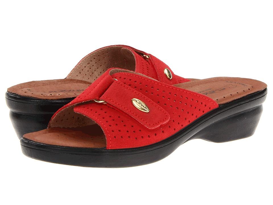 Flexus Kea Red Suede Womens Sandals