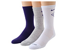 Nike - Dri-Fit Fly Crew 3-Pair Pack (Court Purple/(White)/White/(Electric Purple))