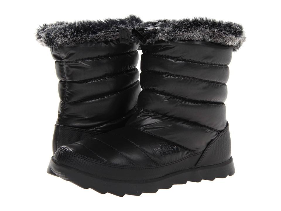 The North Face Thermoball Micro-Baffle Bootie (Shiny TNF Black/TNF Black) Women