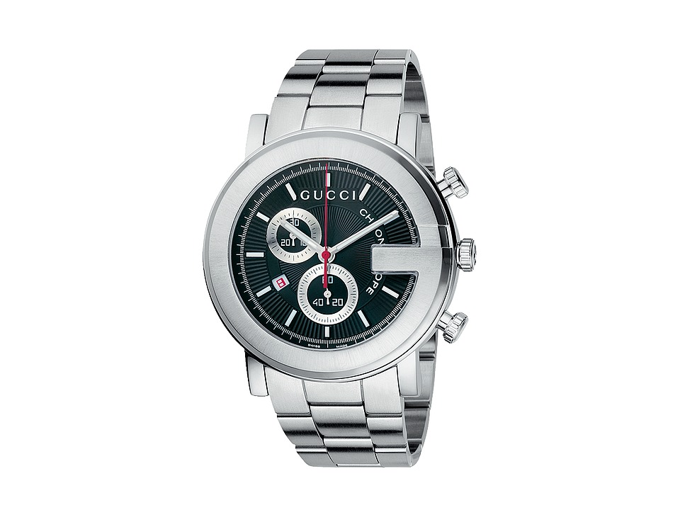 Gucci G Chrono 44mm Chronograph Stainless Steel Watch YA101309 Stainless Steel/Black Watches