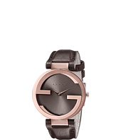 Gucci - Interlocking 37mm Leather Strap Watch-YA133309
