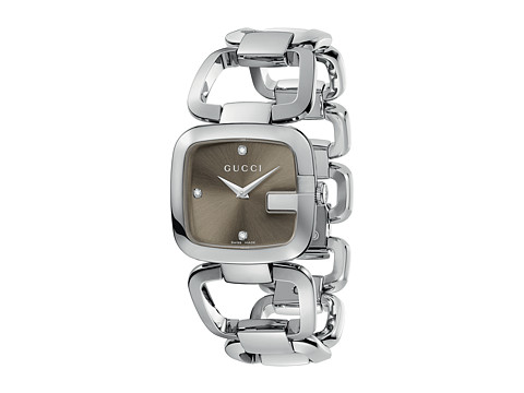 Gucci G-Gucci 32mm Stainless Steel Bracelet with Diamonds Watch-YA125401