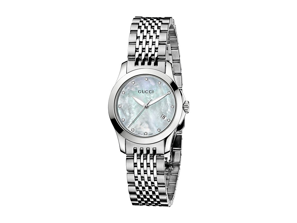 Gucci G Timeless 27mm Stainless Steel Watch YA126504 Stainless Steel/Mother Of Pearl Watches