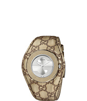 Gucci - U-Play 35mm Signature Gucci Logo Leather Strap Watch-YA129425
