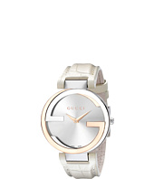 Gucci - Interlocking 37mm Crocodile Leather Strap Watch-YA133303