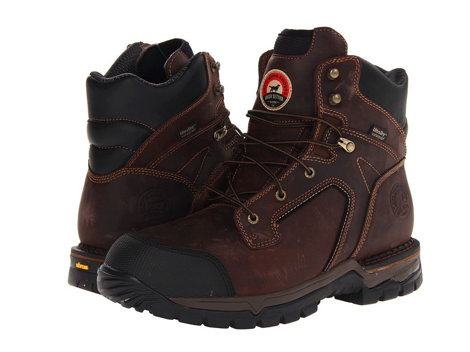 Irish Setter 83610 6 Steel Toe Waterproof Boot Brown Mens Work Boots