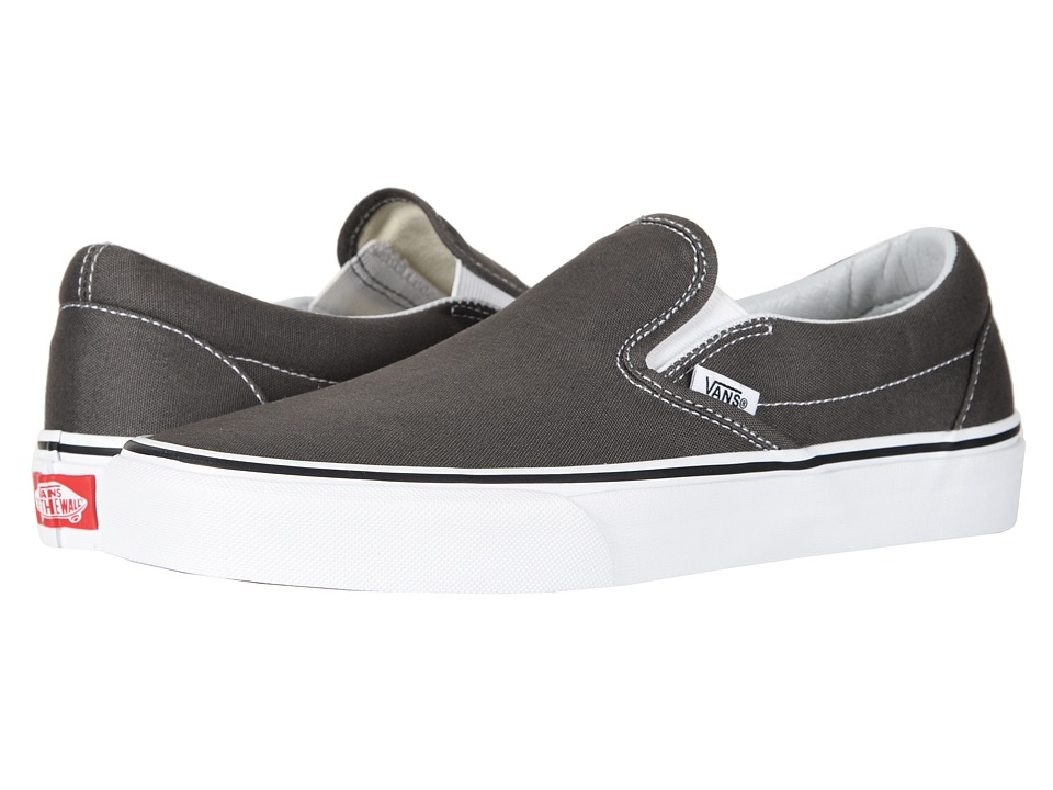Vans - Classic Slip-On Core Classics (Charcoal (Canvas)) Shoes