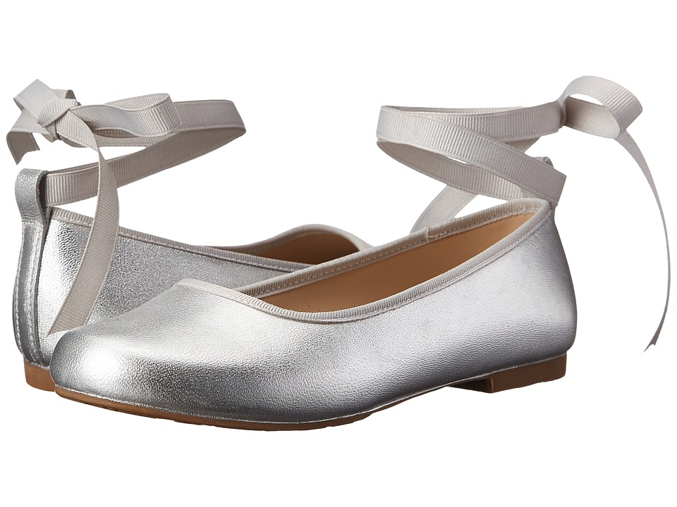 Elephantito Grace Ballet Toddler/Little Kid/Big Kid Silver Girls Shoes