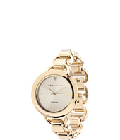 Anne Klein - AK/1384CHGB Diamond Dial Gold-Tone Open Link Bracelet Watch