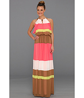 Vince Camuto - Colorblock Batwing Floor-Length Dress