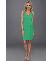 Vince Camuto - V-Neck Sleeveless Dress with Topstitching Detail