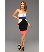 BCBGMAXAZRIA - Reese Strapless Colorblock Dress