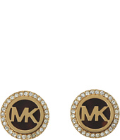 Michael Kors - MK Logo Stud Earrings