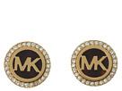 MK Logo Stud Earrings