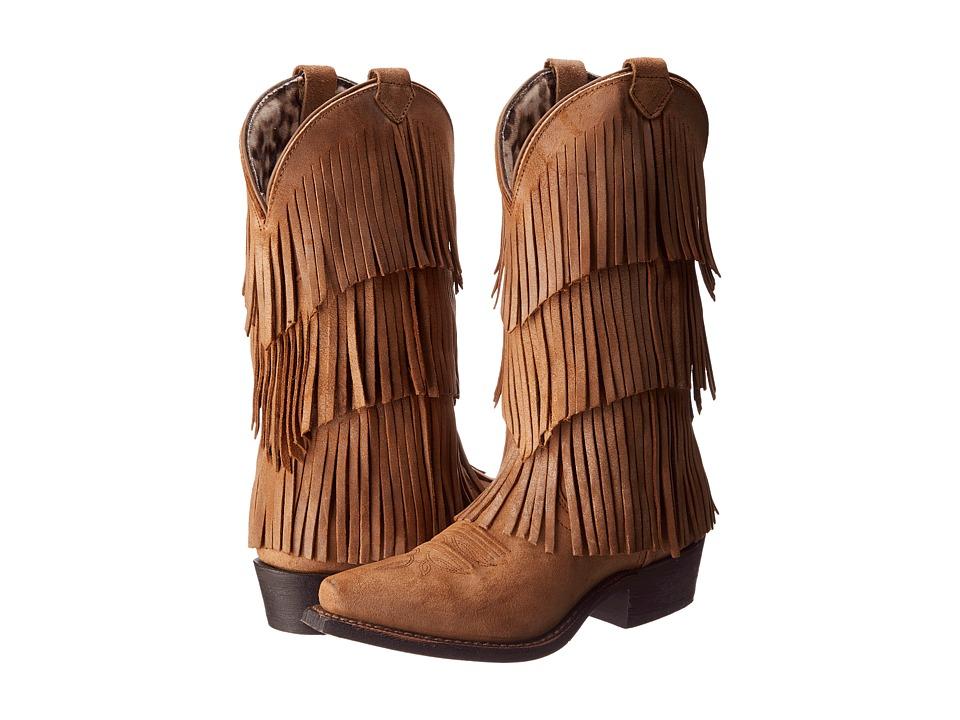 Dingo - Tres Fringe (Burnt Tan) Cowboy Boots